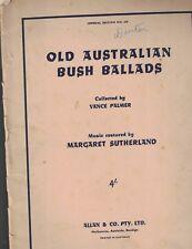 Old Australian bush Ballads 1950 Vance Palmer Margaret Sutherland
