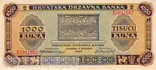 Croatie 1000 Kuna 1943 Pr/Vf pn 12a
