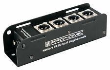 DJ PA Live Zubehör 4-Kanal NetCore Multicore Stagebox XLR male RJ45 Cat DMX AES