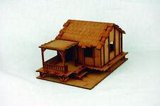 Far East ou Jungle habillent faible maison de village 28 mm Laser Cut MDF Building K005