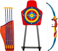 Kids Toy Bow & Arrow Archery Set and Target Outdoor Garden Fun Game