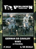 Verlinden 1:35 WWII German SS Cavalry - 2 Resin Figures Kit #2414