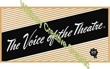 Altec Voice Of The Theater DECAL set of four (4)
