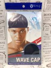 KING.J STOCKING WAVE CAP 2 CAPS PER PACK #061 NAVY SMOOTH TEXTURE ULTRA STRETCH