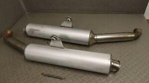 2001 DUCATI ST4 ST 4 exhaust silencers, end cans (modified, LOUD)
