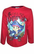 Boys Disney Jake Neverland Pirates Long Sleeve Top T Shirts Kids Size 3-6 Years