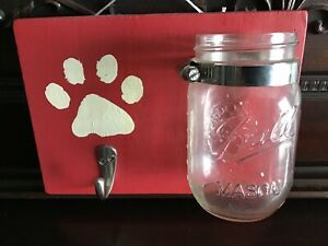 Dog Treat and Leash Holder Hook Plaque