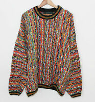 Tundra Canada 3D Knit Textured Biggie Hip Hop Coogi Style Cosby Sweater Mens Lrg