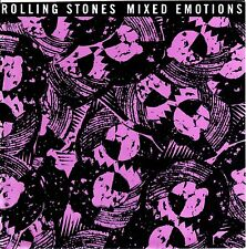 """THE ROLLING STONES : Mixed Emotions 7"""" Promo Musterplatte CBS 655 193 7"""