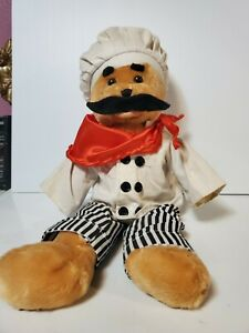 """Chantilly Lane CHEF ALFREDO BEAR ITALIAN Sings And Head Dances """"THAT'S AMORE"""""""