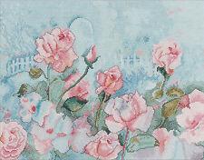 Cross Stitch Kit ~ Plaid-Bucilla Blooming Pink Flower Garden Rose Romance #46470