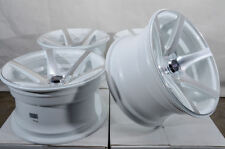 15x8 4x100 White Wheels Fits Honda Civic Chevrolet Cobalt Spark Aveo 4 Lug Rims
