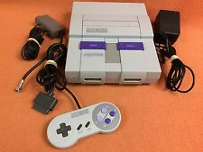 Super Nintendo SNES System Console Official Controller Bundle Fast FREE SHIP!!