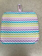 New listing Pot Holder / Loop to Hang - Quilted Back / Pastel Rick Rack - Easter Colors