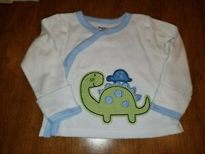 Gerber 0/3 Mos. Long Sleeved Snap Side Knit Tee With Mittens