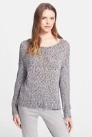 VINCE Womens Gray Chunky Knit Drop Shoulder Sweater Pullover Cotton Size S