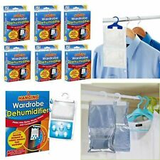 6x Hanging Wardrobe Dehumidifier Absorbs Moisture Damp Mould & Condensation UK
