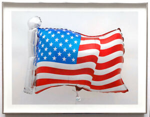 Jeff Koons 2020 Flag Balloon Print Limited Edition 40 Pristine Framed JKLFA.com