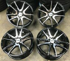 "17"" LKW PANTHER Alloy Wheels Gloss Black 4x108 Ford Fiesta Vauxhall Corsa Mini"