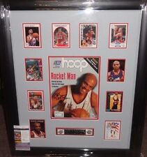CHARLES BARKLEY SIGNED AUTO NBA Official Hoop Magazine Card Collage Display JSA
