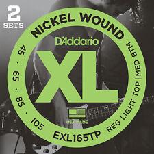 D'Addario EXL165TP Nickel Wound Bass Guitar Strings Custom Light 45-105 2 Set