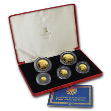 1990 Isle of Man 5-Coin Gold NY Alley Cat Proof Set (1.84 oz) - SKU #59942