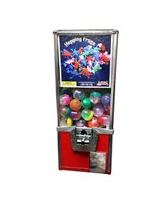 "25"" Bulk Capsule/Bouncy Ball Bulk Vending Machine .50 Cent Vend Tower - RED"