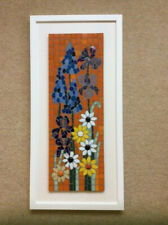 FLORAL MOSAIC PICTURE, SIGNED, PROFESSIONALLY FRAMED, UNIQUE ARTWORK
