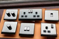 Home of Style Raised Slimline Screwless Antique Pewter Switches Sockets Dimmers