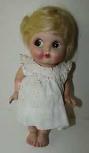 Vtg Painted Composition Doll Muncy Kid MErmaid Toy Co Googly-Eyed Frozen Comp