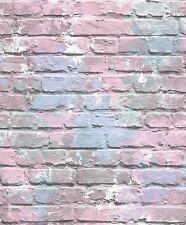 LILAC GRAFFITI CAMOUFLAGE WALL BRICK WALL UGEPA DESIGNER WALLPAPER L33506