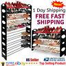 OxGord Shoe Rack for 50 Pair Wall Bench Shelf Closet Organizer Storage Box Stand