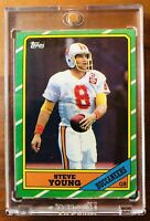 1986 Topps #374 STEVE YOUNG RC ROOKIE HOF 49'ers W/New Mag-Holder