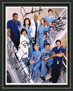 GREYS ANATOMY - CAST FULLY SIGNED A4 AUTOGRAPHED PHOTO POSTER - FREE POSTAGE