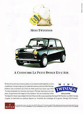 PUBLICITE ADVERTISING 094  1991  ROVER  la MINI TWININGS