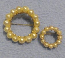Classic Vintage Faux Pearl Circle Pins