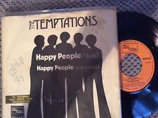 "Temptations, Happy People , 7"" vinyl single jukebox record ,holland Motown"