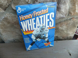 Unopened Box of Honey Frosted Wheaties - Prime Time Deion Sanders