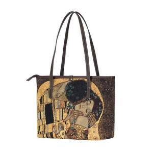 GOLD KISS BY ARTIST GUSTAV KLIMT TOTE SHOULDER ART BAG SIGNARE TAPESTRY WOMEN