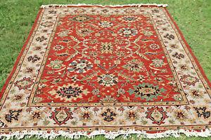 Red Soumak Hand Woven Wool Turkish Kilim Dhurrie Afghan Oriental Area Rug 8x10