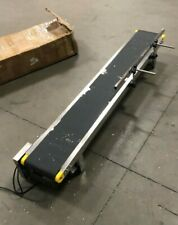 Used 59x8 Electric Belt Conveyor Transport Tool With Guardrail Pvc Belt 110v