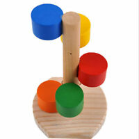 Natural Wooden Colorful Ladder Pets Toys Rat Hamsters Mouse Funny Exercise Tower