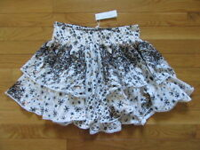 POUPETTE ST BARTH MINI SKIRT JOLIE, WHITE BLACK, GALAXY, VISCOSE, NWT$275, M