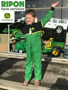 Childrens Kids Genuine Green John Deere Overalls Boilersuit - MCDW00240A