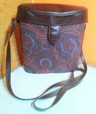 Vintage Liberty of London Print & Leather Cross body  Bucket bag .
