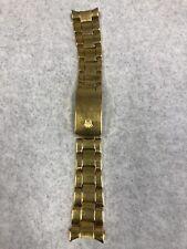 Vintage 19mm 18k Yellow Gold Plated Genuine Rolex Bracelet