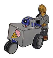 ICE CREAM MAN C3PO AND R2D2 ENAMEL PIN BY TOXIC TOAST RECORDS