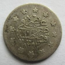 S0301 - Türkei 1 Kurush, Tughra Abdülhamid II, AH1293/29 (1905), Silber