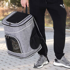 PawHut Pet Backpack Travel Carrier Airline Bag w/Mesh Pad 2 Way Carrying Outdoor