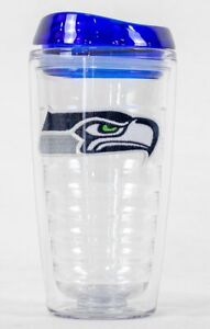 Seattle Seahawks NFL Licensed 16oz Double Wall Insulated Tumbler Cup w/Lid